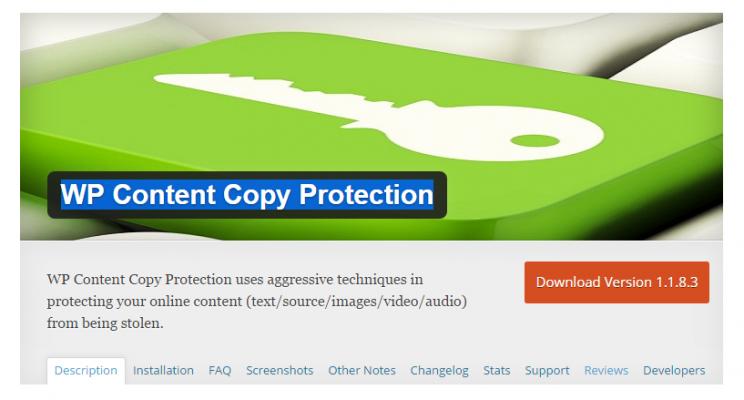 Hướng dẫn chống copy trên Web WordPress