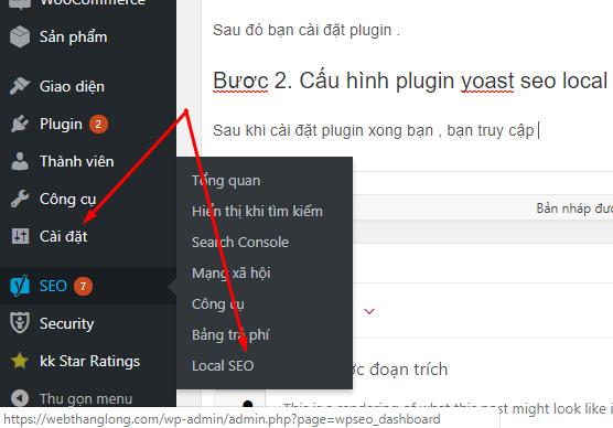 thiết lập plugin yoast seo local