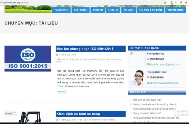 Mẫu website giới thiệu công ty dịch vụ tư vấn công nghệ môi trường Etech